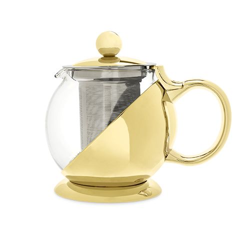 Shelby Gold Wrapped Teapot & Infuser by Pinky Up