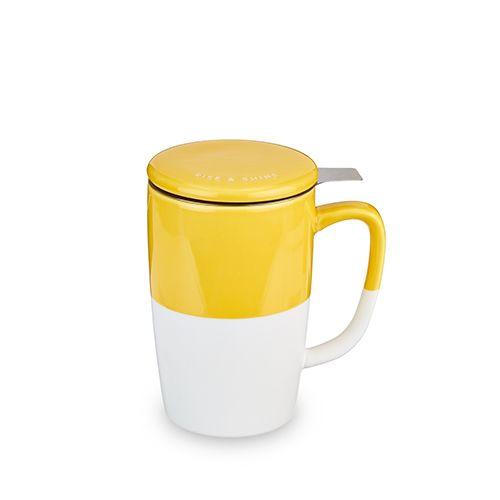 Delia Yellow Tea Mug & Infuser by Pinky Up
