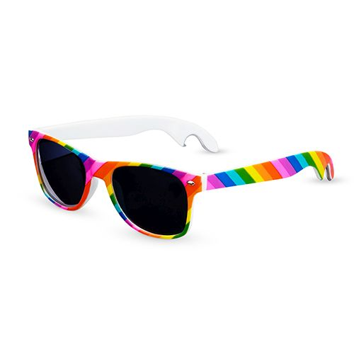 Rainbow Bottle Opener Sunglasses by TrueZoo