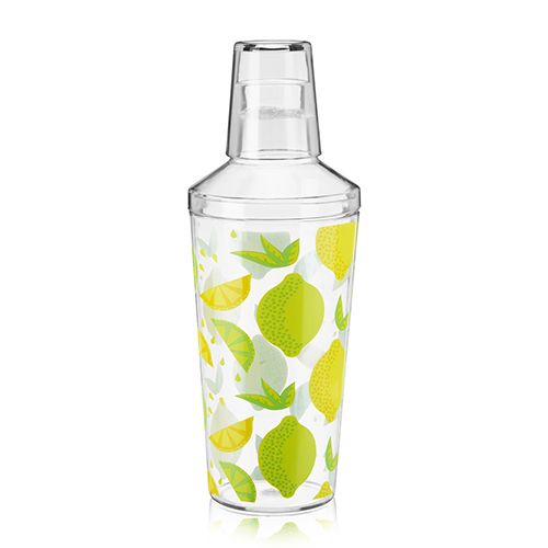 16oz Citrus Patterned Plastic Cocktail Shaker by True