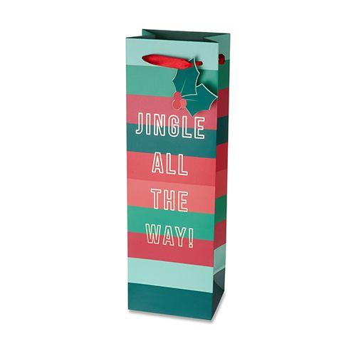 Jingle All The Way Single-Bottle Wine Bag by Cakewalk
