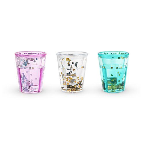 Mermaid Sparkle Glitter Shot Glasses by Blush