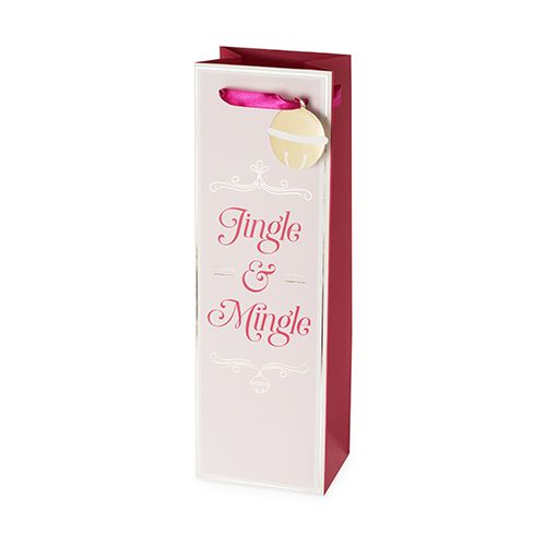Jingle & Mingle Single-Bottle Wine Bag by Cakewalk