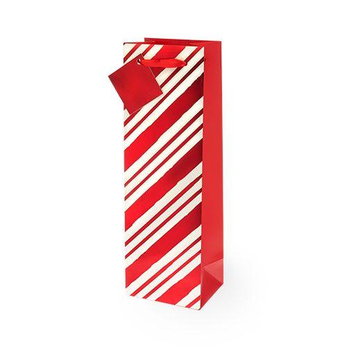 Candy Stripe Single-bottle Wine Bag by Cakewalk