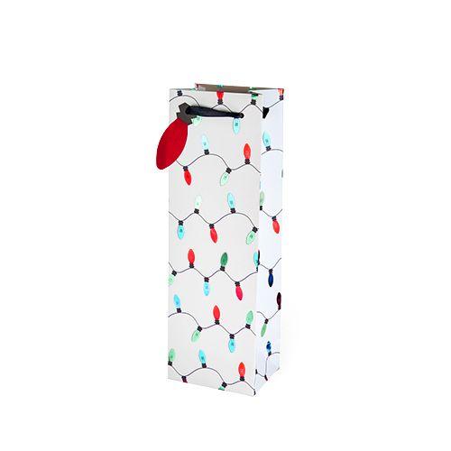 Holiday Lights Single-bottle Wine Bag by Cakewalk