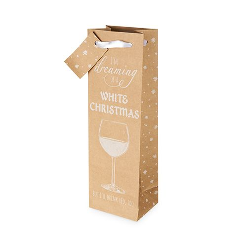 Tipsy Christmas Single-Bottle Wine Bag by Cakewalk