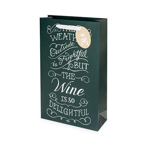 Wine Weather Double-Bottle Wine Bag by Cakewalk