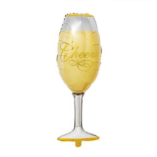 Champagne Glass Mylar Balloon by Cakewalk