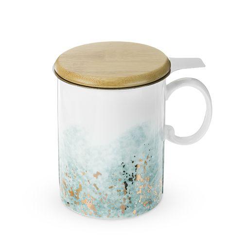 Bennett Blue Ceramic Tea Mug & Infuser by Pinky Up