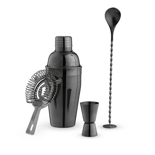Gunmetal Black Barware Set by True