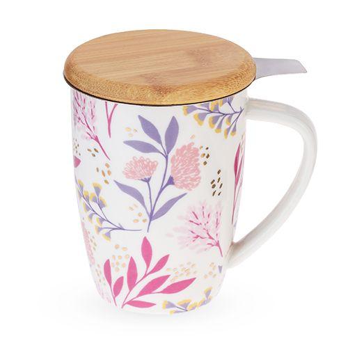 Bailey Botanical Bliss Ceramic Tea Mug & Infuser by Pinky U