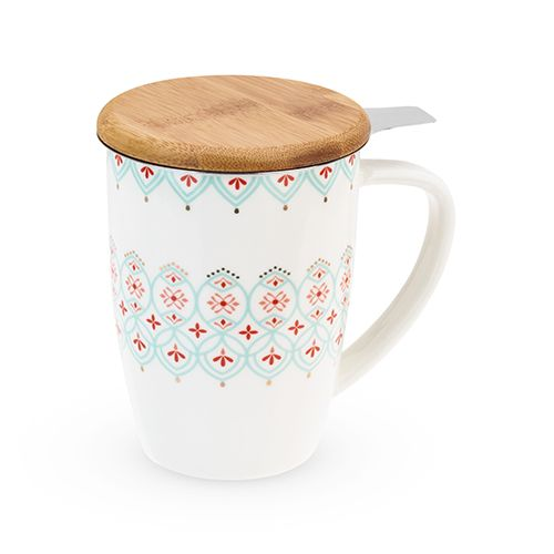 Bailey Arabesque Ceramic Tea Mug & Infuser by Pinky Up