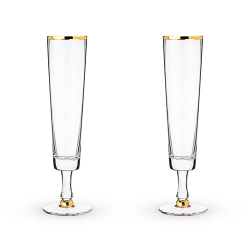 Wedding Champagne Flute Set by Twine