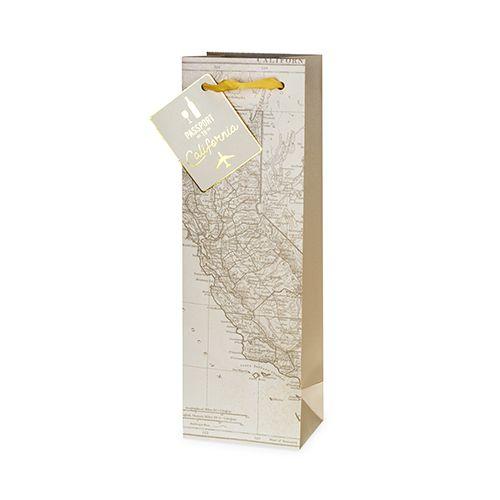California Wine Map Single-Bottle Bag by Cakewalk