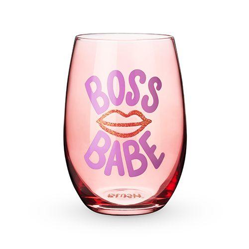 Boss Babe Stemless Wine Glass by Blush