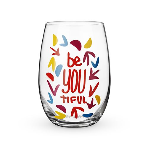 BeYOUtiful Stemless Wine Glass by Blush