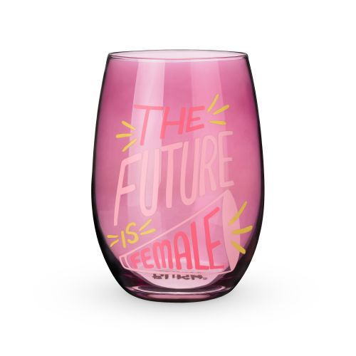 The Future is Female Stemless Wine Glass by Blush