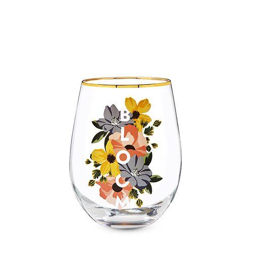 Bloom Stemless Wine Glass by Twine