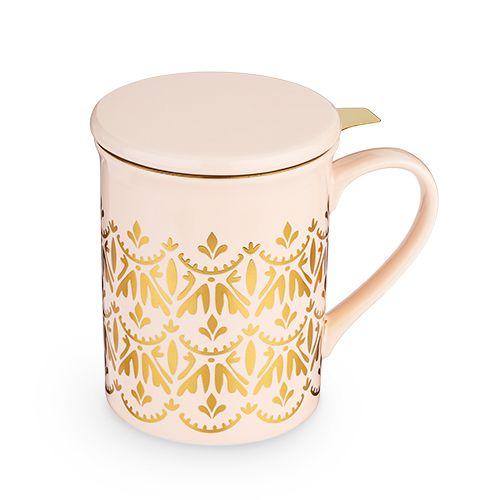 Annette Casablanca Pink Ceramic Tea Mug & Infuser by Pinky