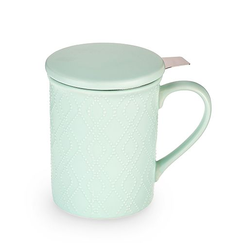 Annette Souk Mint Ceramic Tea Mug & Infuser by Pinky Up