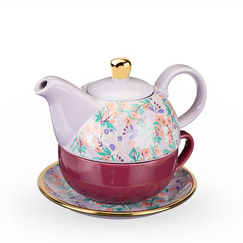 Addison Wildflower Purple Tea for One Set by Pinky Up