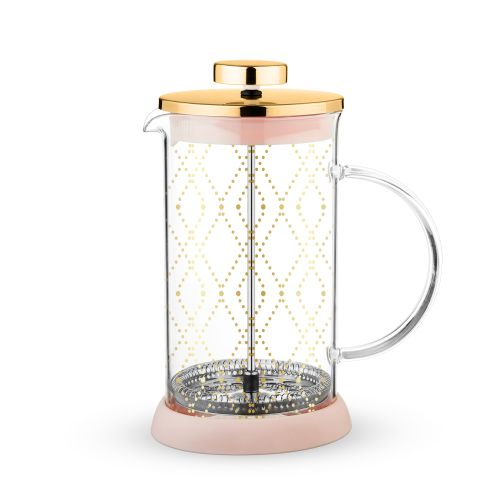 Riley Mini Souk Gold Glass Tea Press Pot by Pinky Up