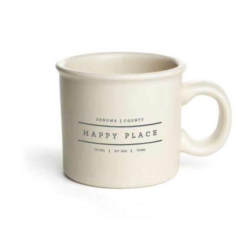 Chunky Mug, Off White, Happy Place, Sonoma