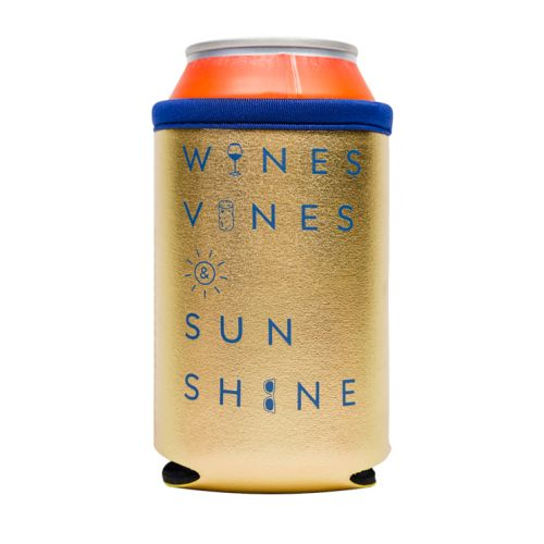 Wine Vines and Sunshine Metallic Can Sleeve