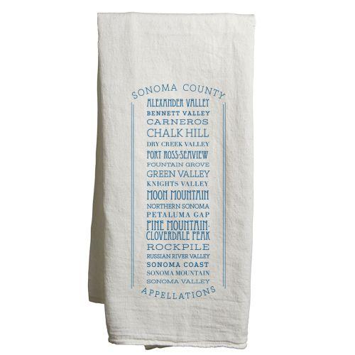 Sonoma White Tea Towel Appellations