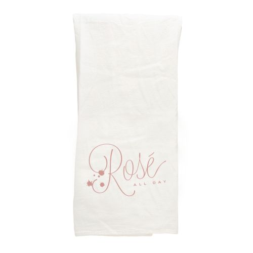 White Tea Towel, Rose All Day