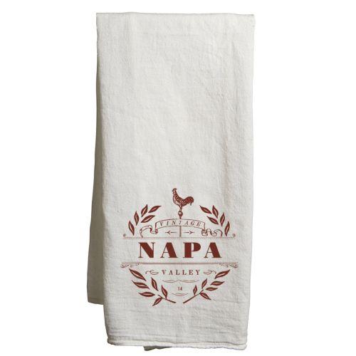 Napa White Tea Towel Vintage