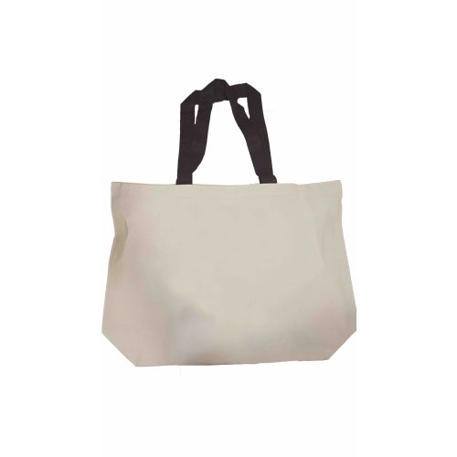 Recycled Tote Natural w/ Black Handles