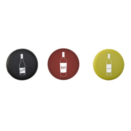 Drink Red Wine Silicone Stopper Set of 3