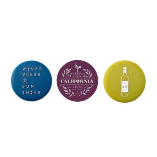 California Wine Silicone Stopper Set of 3