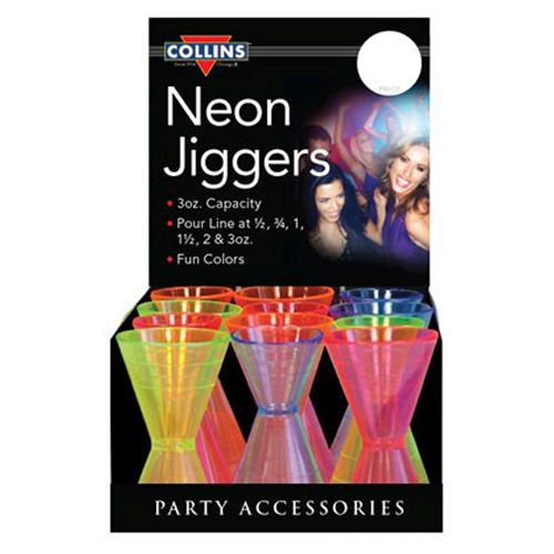 Assorted Plastic Neon Jiggers