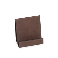 Smart Phone Cradle in Brown Leatherette
