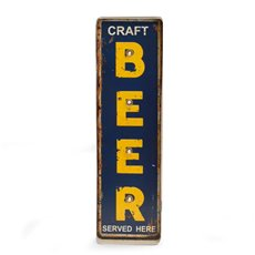 Craft Beer Metal Sign, LED Lighted, Wall Mountable