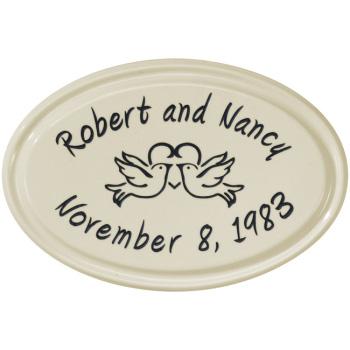 Custom Wedding Or Anniversary Ceramic Plaque