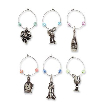 A Glass A Day My Glass Wine Charms