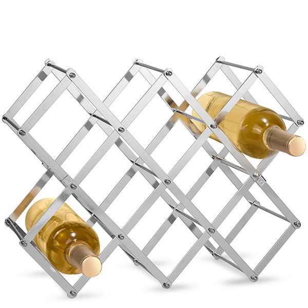 Folding Lattice Wine Bottle Rack