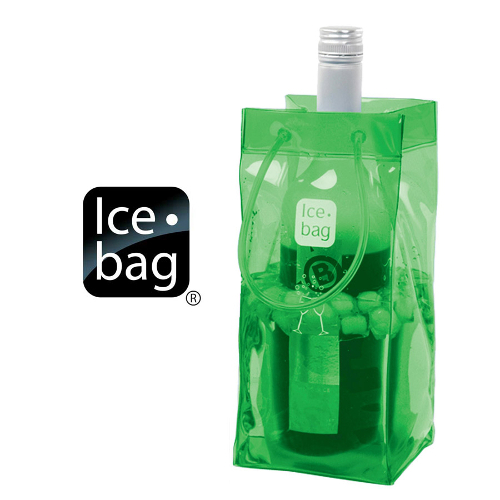 Ice Bag Collapsible Wine Cooler Bag, Green