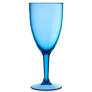 Acrylic Wine Glasses - Blue