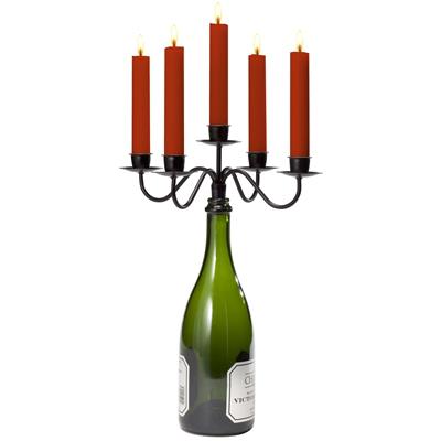 Afterglow Wine Bottle Candelabra