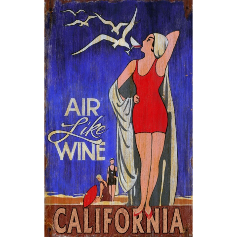 Air Like Wine Vintage Personalized Sign