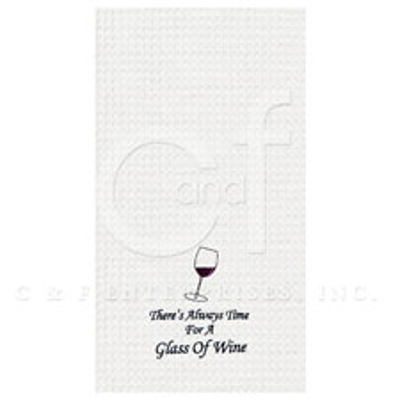 Time For A Glass Of Wine Kitchen Towel