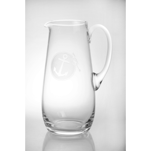 Rope with Anchor Whiskey Glasses & Pitcher Set