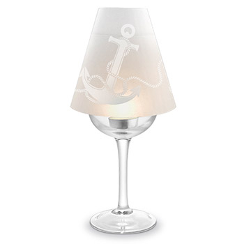 Anchor Wine Glass Lampshades
