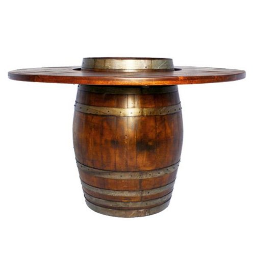 Large Wine Barrel Bistro Table