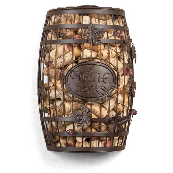 Wine Barrel Wall Mounted Cork Cage