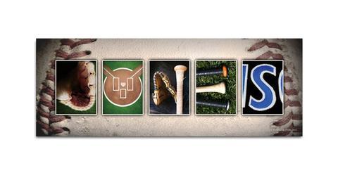 Baseball Name Print